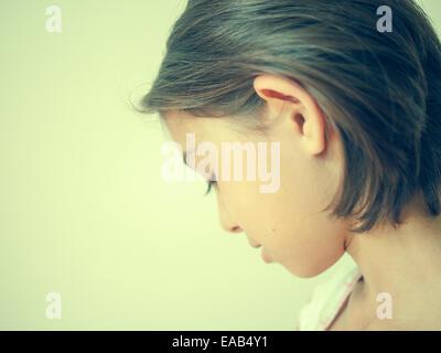 Looking away - Stock Image