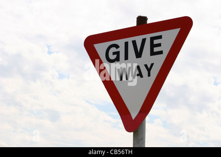 Give way traffic sign - Stock Image