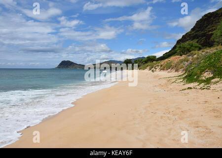 Nanakuli Beach - Oahu, Hawaii - Stock Image