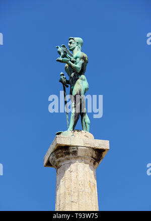 The Victor Monument, Pobednik, Belgrade, Serbia. Built to commemorate Serbia's victory over Ottoman and Austro-Hungarian Empire during the Balkan Wars - Stock Image