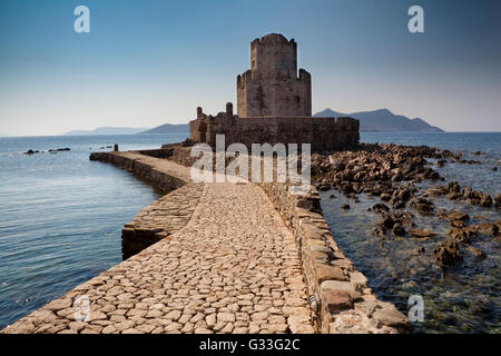 Methoni fortress in Peloponnese, Greece - Stock Image