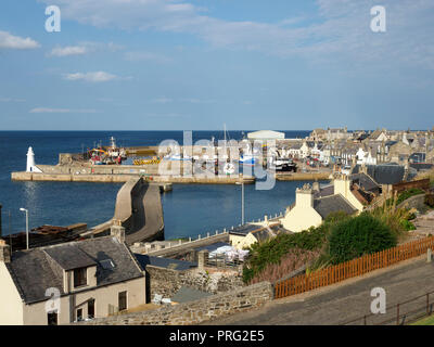 The harbour at Macduff, Scotland - Stock Image