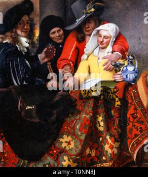 Johannes Vermeer, The Procuress, painting, 1656 - Stock Image