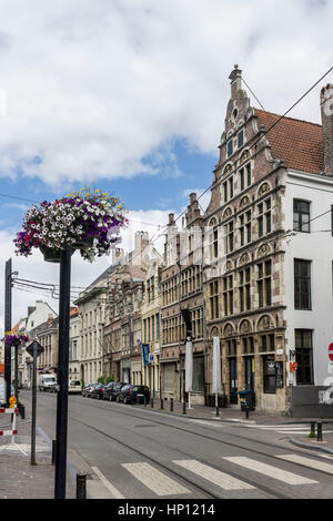 Historical Street Ghent Belgium - Stock Image