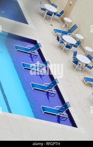Rooftop pool in Barra de Tijuca. Rio de Janeiro. Brazil - Stock Image