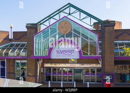 Sovereign Shopping Centre at Boscombe, Bournemouth, Dorset UK in July - Stock Image