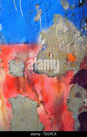 Abstract blue and red painted background - Stock Image