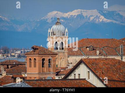 Venetian rooftops - Stock Image
