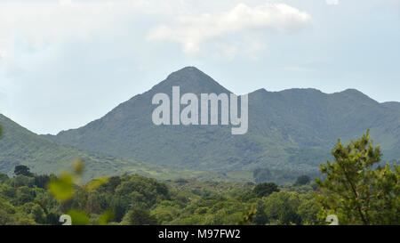 Sugarloaf Mountain from Garnish Island - Stock Image