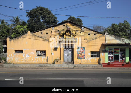 a temple in the small village of habarana in the cultural triangle of sri lanka - Stock Image