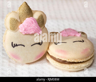 Unicorn macarons - Stock Image