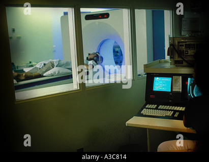 MRI Magenetic resonance imaging - Stock Image