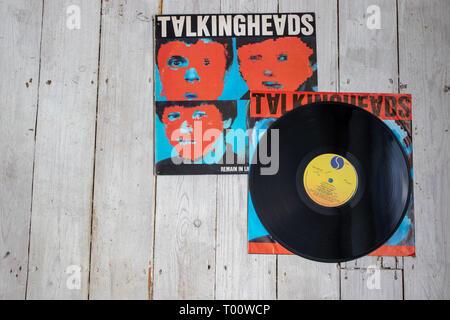 Talking Heads' 1980 studio album Remain in Light - Stock Image