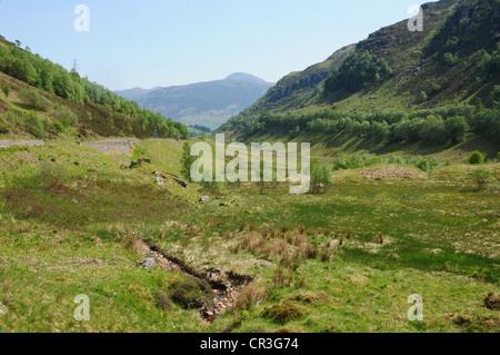 View of Glen Ogle near Killin, Perthshire - Stock Image