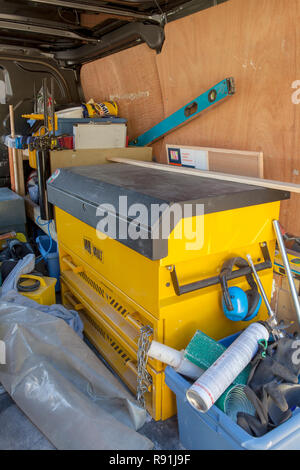 Van Vault in a tradesmans vehicle - Stock Image