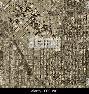 historical aerial photograph Denver, Colorado, 1993 - Stock Image