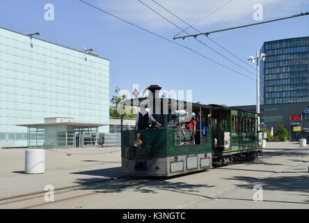 Bern Steam Tram at Guisanplatzv Expo -1 - Stock Image
