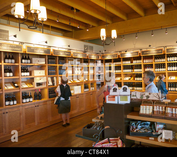 Quails Gate winery shop in the the Okanagan in Canada - Stock Image