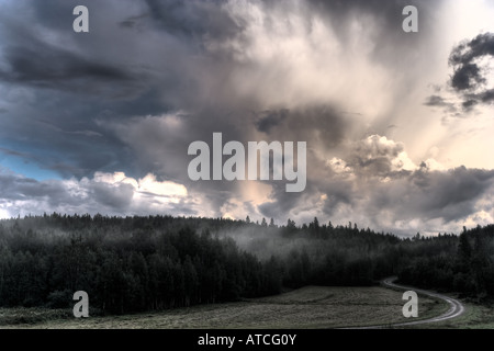 Depressing scene right after a rainstorm in hdr. - Stock Image