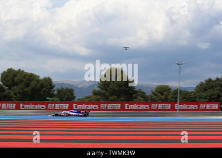 Marseille, France. 21st Jun 2019. FIA Formula 1 Grand Prix of France, practice sessions; SportPesa Racing Point, Sergio Perez Credit: Action Plus Sports Images/Alamy Live News - Stock Image