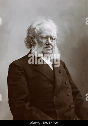 HENRIK IBSEN (1828-1906) Norwegian playwright about 1898 - Stock Image