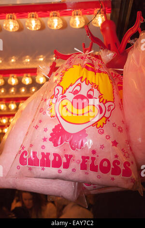 Candy floss at a funfair. - Stock Image