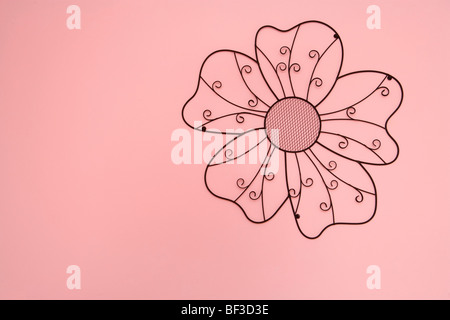 Flower drawn on a wall - Stock Image
