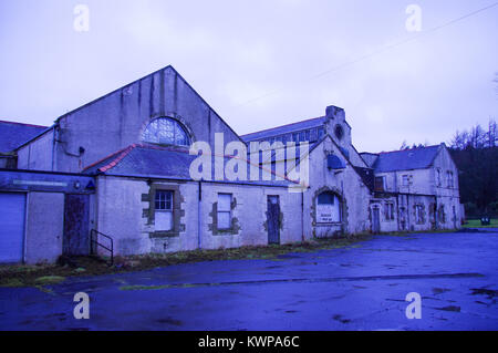 Bangour, Scotland, 09 March 2013.  The abandoned village of Bangour used to be a war hospital and psychiatric Ward. - Stock Image