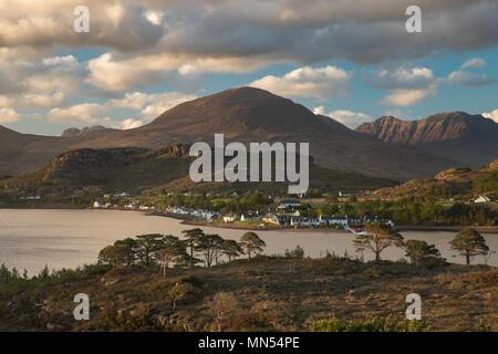 Shieldaig, Loch Torridon, Wester Ross, Scotland, - Stock Image