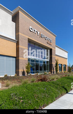 City Sports Club, East Arques Avenue, Sunnyvale, California, USA - Stock Image