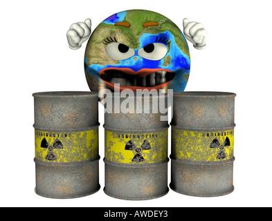 radioactive waste - Stock Image