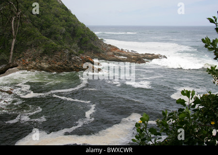 Storms River Mouth, Tsitsikamma Nature Reserve, South Africa. - Stock Image