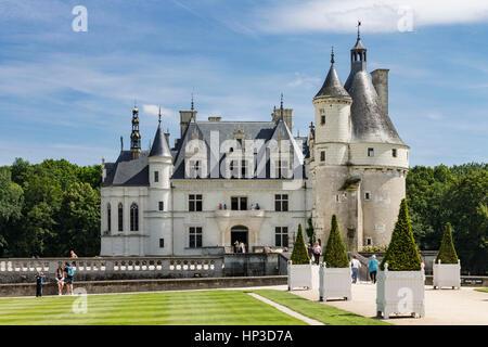 Chenonceau Castle Loire Valley France - Stock Image