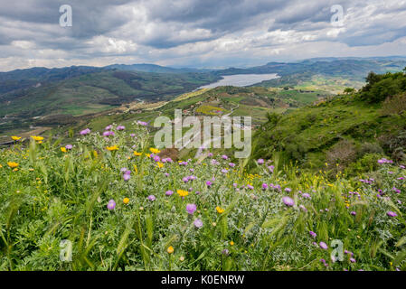 Southern Italy, Sicily, Agria, an island a panorama - Stock Image