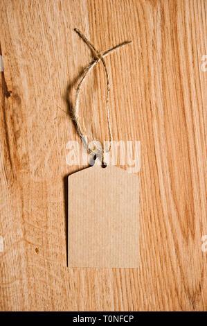 blank brown cardboard tag - Stock Image