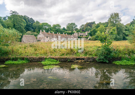 Arlington Road, Bibury - Stock Image