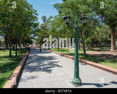 The Plaza. Town of Cafayate is the center for tourism and winegrowing in the Valles Calchaquies region. South America, Argentina (Editorial Use Only) - Stock Image