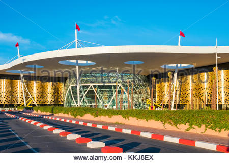 Morocco, Marrakech-Safi (Marrakesh-Tensift-El Haouz) region, Marrakesh. Terminal buildings at Marrakesh Menara Airport. - Stock Image
