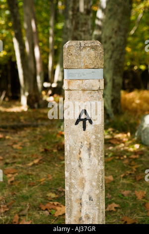 Appalachian Trail trailhead near Skyland Resort Shenandoah National Park Virginia - Stock Image
