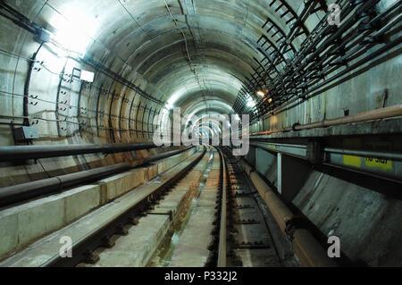 The Metro tunnel - Stock Image