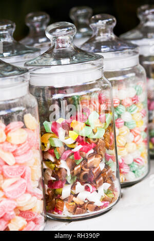 Sweets in jars - Stock Image
