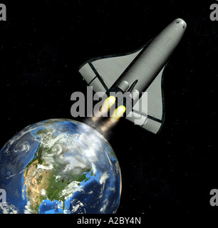 Space Shuttle - Stock Image
