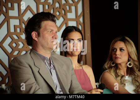Sao Paulo, Brazil. 12th March, 2018. TV host and Chef Carlos Bertolazzi, Chris Flores and Beca Milano  attends the - Stock Image