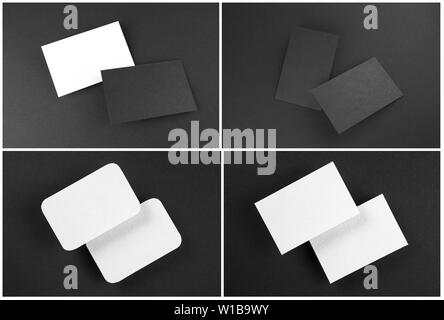 Mockup of business cards. Template for branding identity - Stock Image