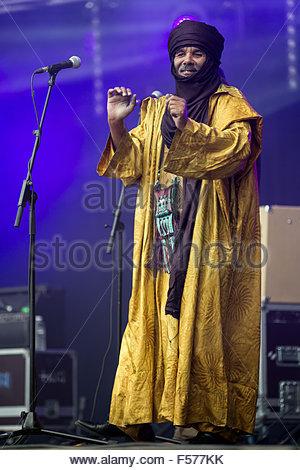 Tinariwen performing live - Stock Image