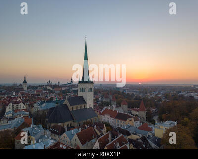 Aerial of city Tallinn, Estonia - Stock Image