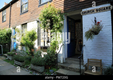 Town houses in Church Square, Rye, East Sussex, UK - Stock Image