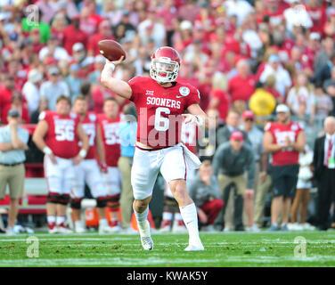 Pasadena, California, USA. 01st Jan, 2018. Oklahoma Sooners quarterback Baker Mayfield #6 during the 2018 Rose Bowl - Stock Image