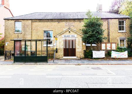 Heckington Village Hall, Heckington Temperance Hall, Village Hall, building, exterior, sign, historic, village halls, Lincolnshire UK, village hall, - Stock Image