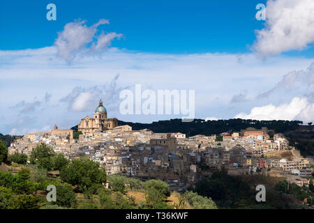 Ancient hill town of Piazza Armerina, Sicily, Italy - Stock Image